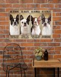 [LIMITED] Poster Boston terrier be strong be brave be human be badass