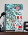 [LIMITED] Poster Wolf I don't sled to win races nor do I sled to get places