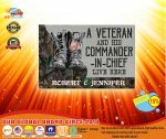 [LIMITED] A veteran and his commander in chief live here custom personalized name doormat
