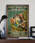 [LIMITED] Poster Cat That's what I do I read books I drink tea and I know things