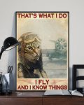 [LIMITED] Poster Pilot Cat That's what  I do I fly and I know things