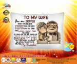 [LIMITED] Up carl and ellie To my Wife you are braver than you believe cushion pillow