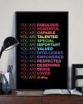 [LIMITED] You are fabulous you are powerful custom personalized name poster