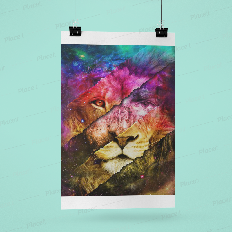 [NEW] – ROARING LIKE A LION Gallery Wrapped Poster