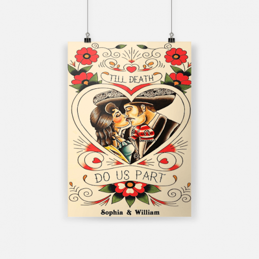 Sophia William Mexican Couple Till Death Do Us Part Vertical Poster