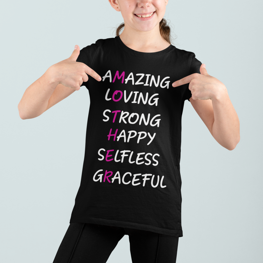Love Mother Amazing loving strong happy selfless graceful shirt