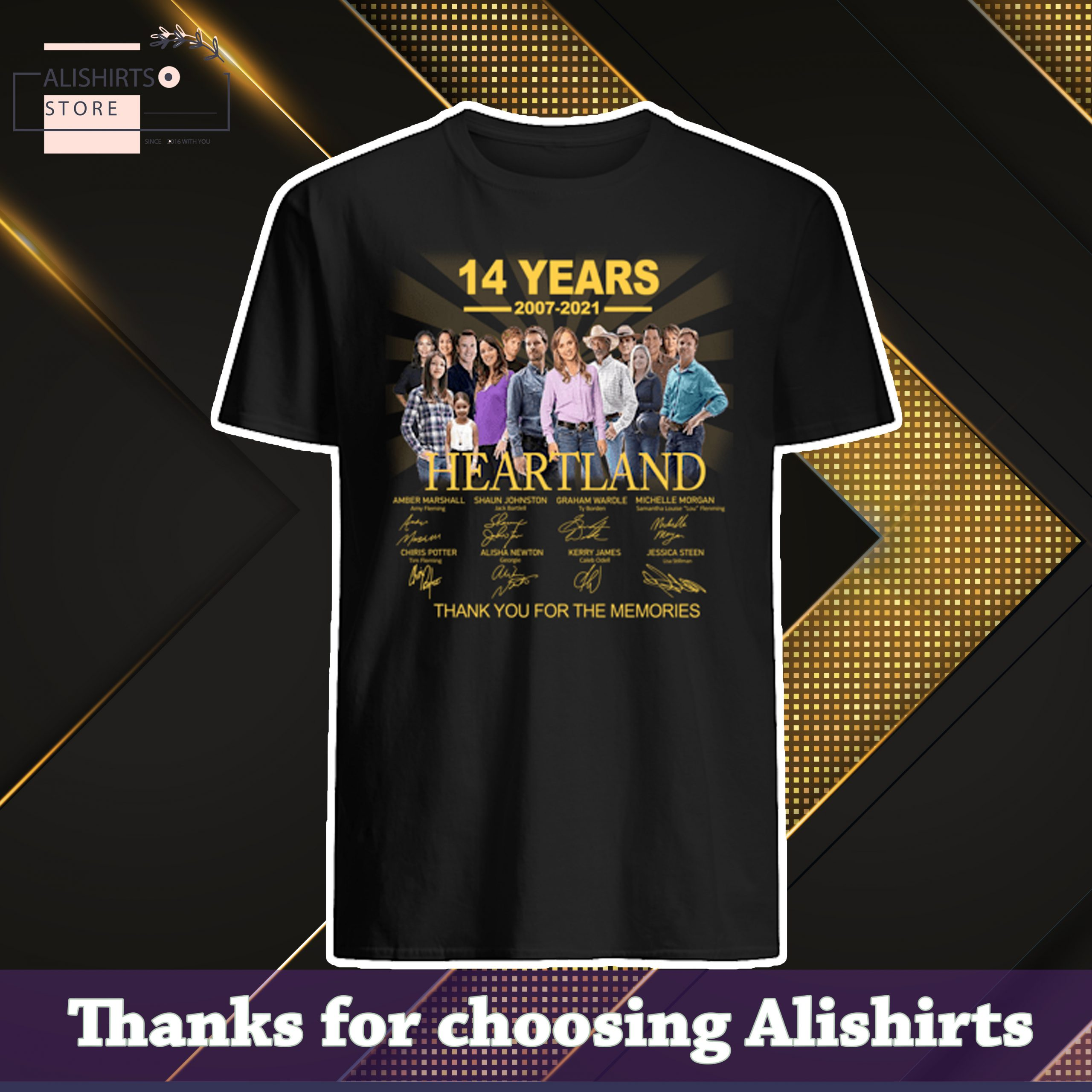 [AUTHENTIC] – 14 years 2007 2021 Heartland signatures thank you for the memories shirt