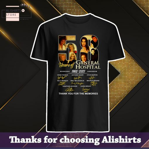 Offical 58 Years Of General Hospital 1963 2021 Signatures Thank You For The Memories Shirt