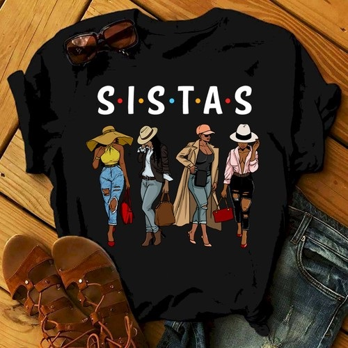 Official Friends Sistas Afro Women Together Shirt