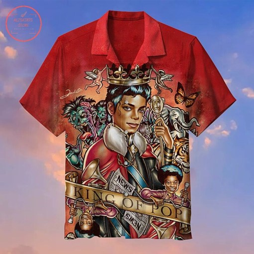 Prime 10 Tricks To Develop Your Tropical Themed Shirts: Michael Jackson the king of pop music Hawaiian shirt