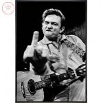 The Person In Black: johnny cash middle finger canvas ~ 1932-2003