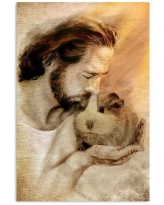 Jesus with Guinea pig poster