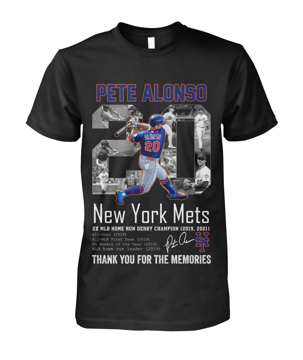 Pete alonso 20 new york mets thank you for the memories shirt