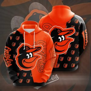 Baltimore orioles 3d over print hoodie