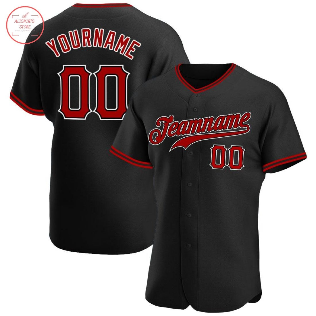 red and white baseball jersey