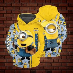 Minions 3d all over print hoodie