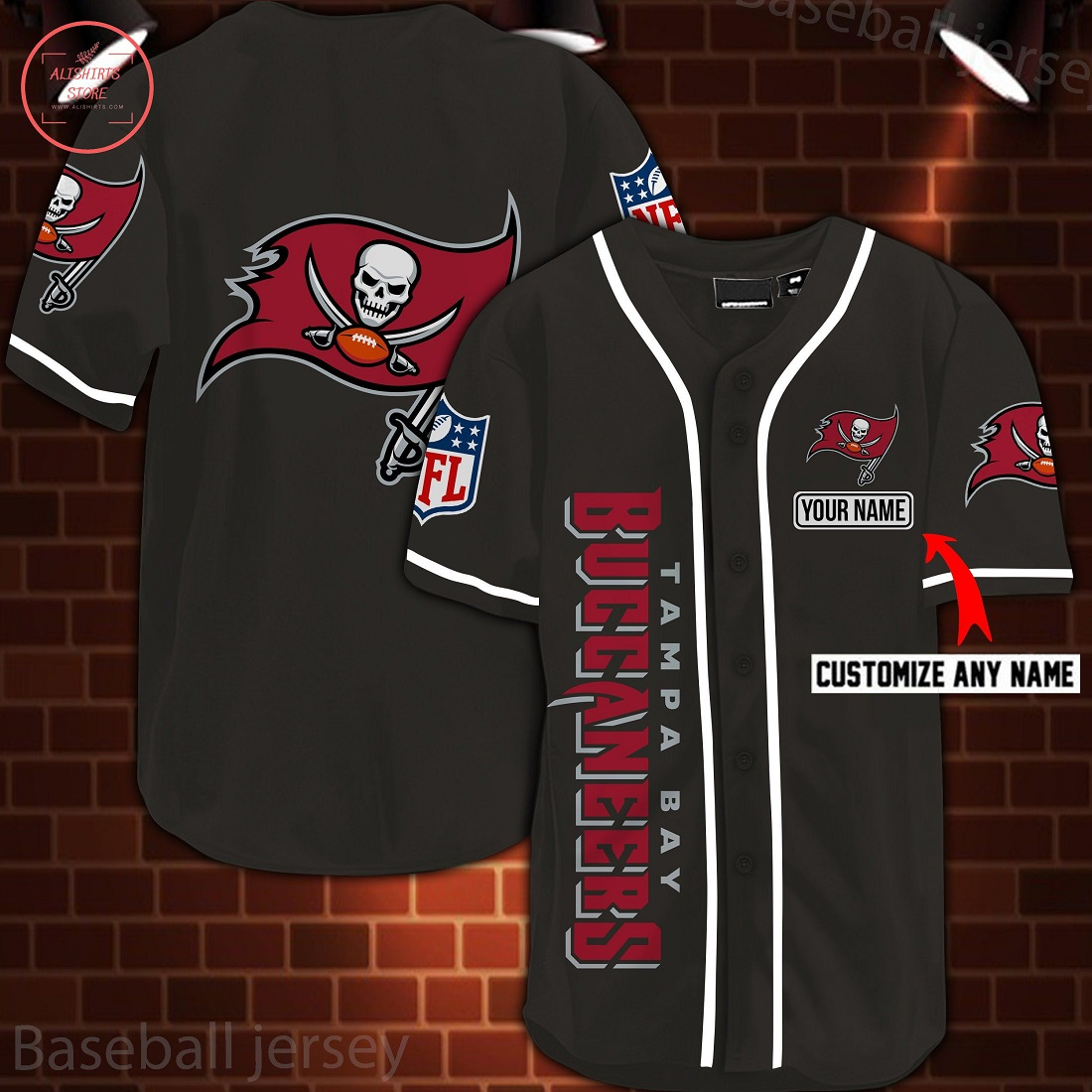 Nfl Tampa Bay Buccaneers Personalized Baseball Jersey