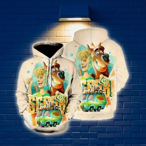 Scoopy-doo 3d all over print hoodie