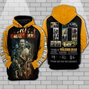 The walking dead anniversary 3d all over print hoodie