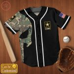 US Army Punisher Personalized Custom Jersey