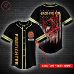 Custom Back The Red Firefighters Baseball Jersey