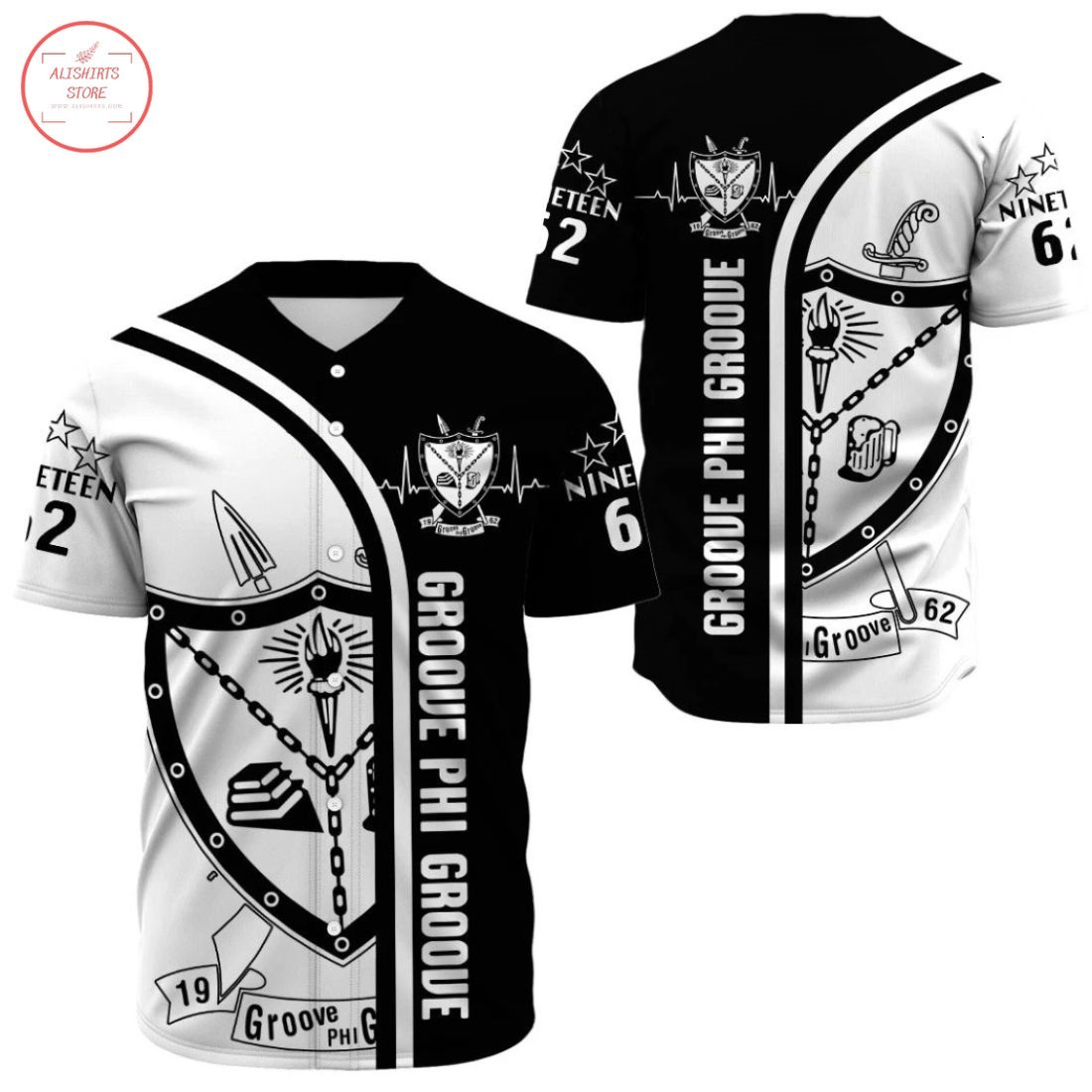 Groove Phi Groove Fraternity 1962 Baseball Jersey