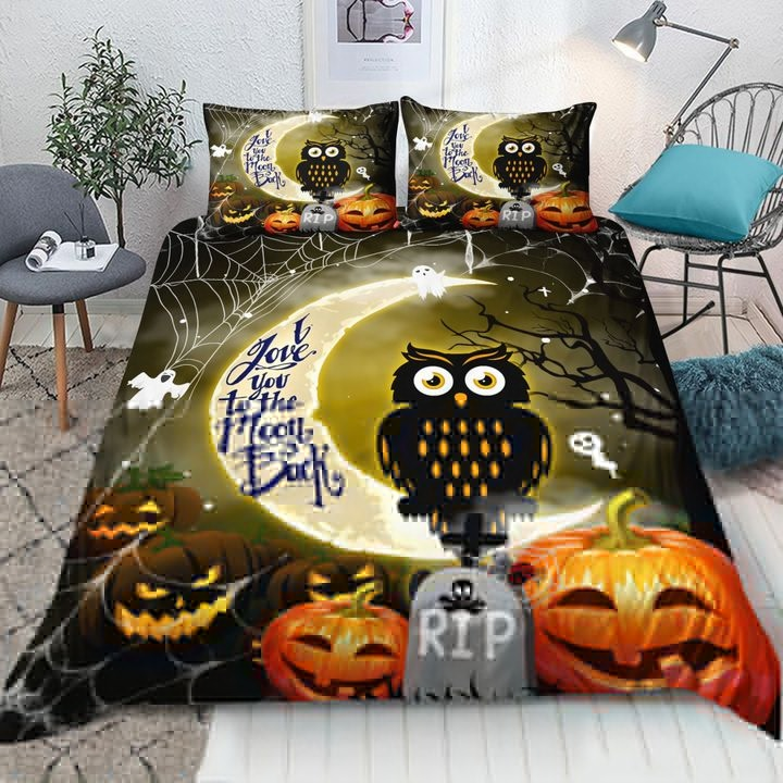 Owl Halloween I Love You To The Moon And Back Blanket