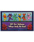 Pooh Grateful dead bears All are welcome whose souls be kind doormat