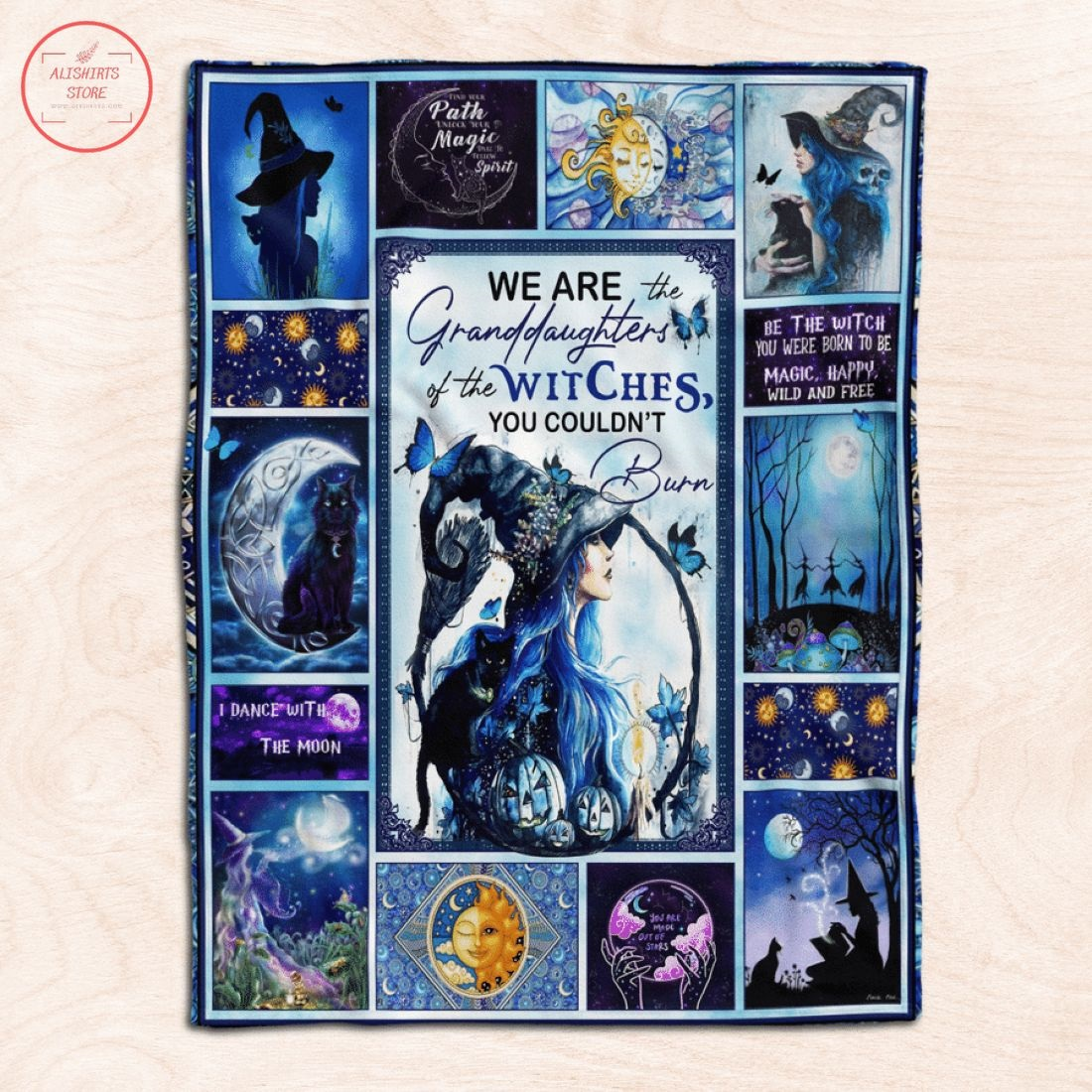 We Are Granddaughter Of The Witches Halloween Blanket