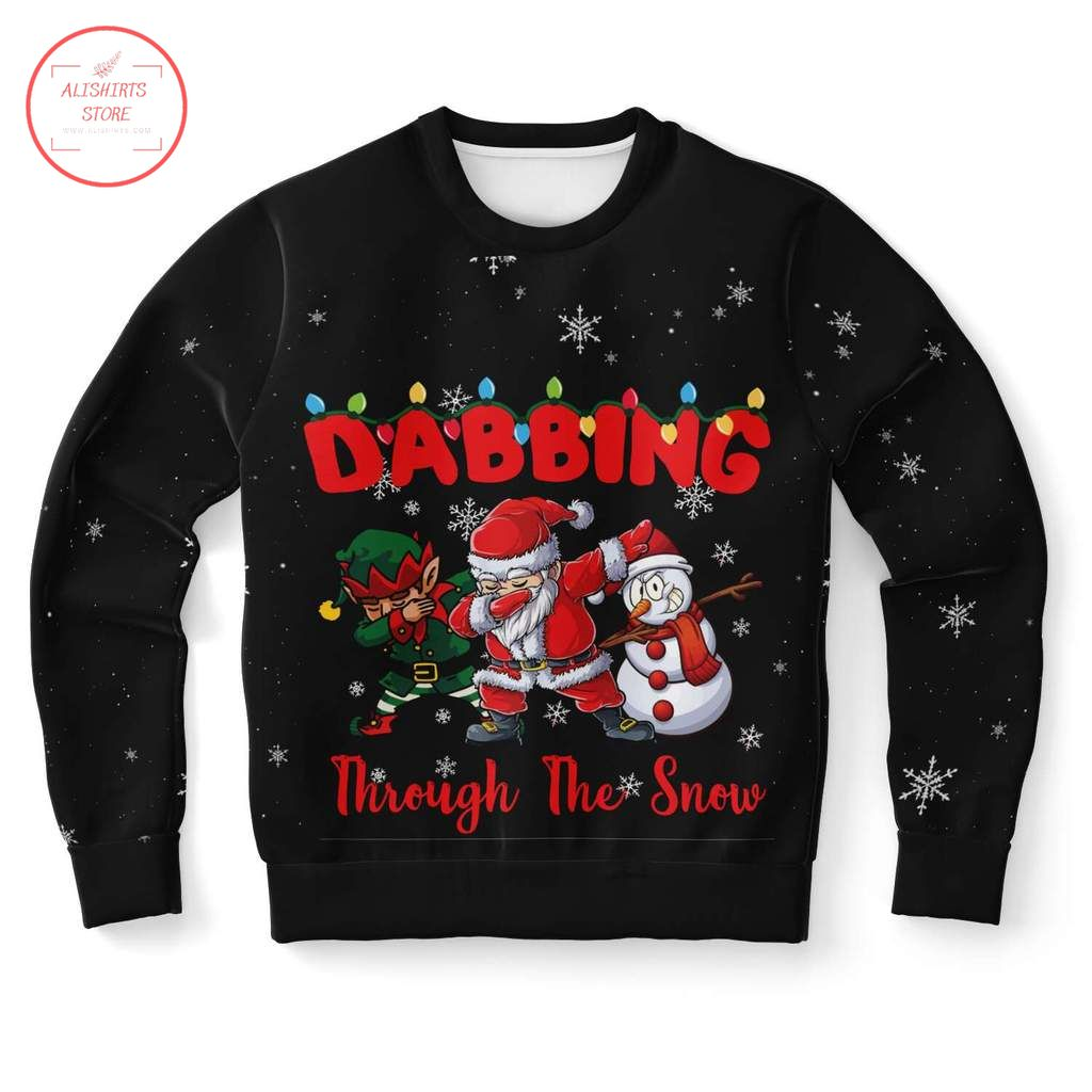Dabbing in Christmas ugly Sweater