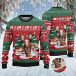 Hereford Cattle Lovers Ugly Christmas Sweater