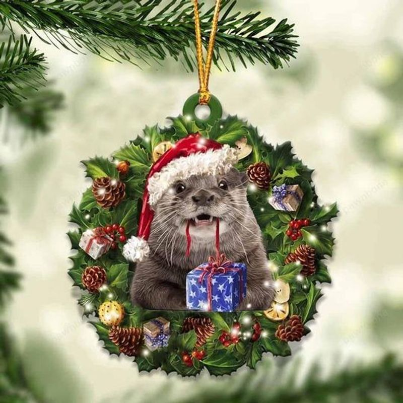 Otters Christmas Gift Ornament